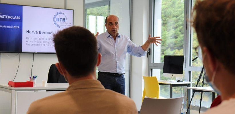 Hervé Béroud, DG d'Altice Media, en charge de l'information et du sport.