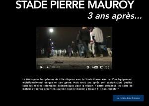 Page d'accueil du Web Documentaire