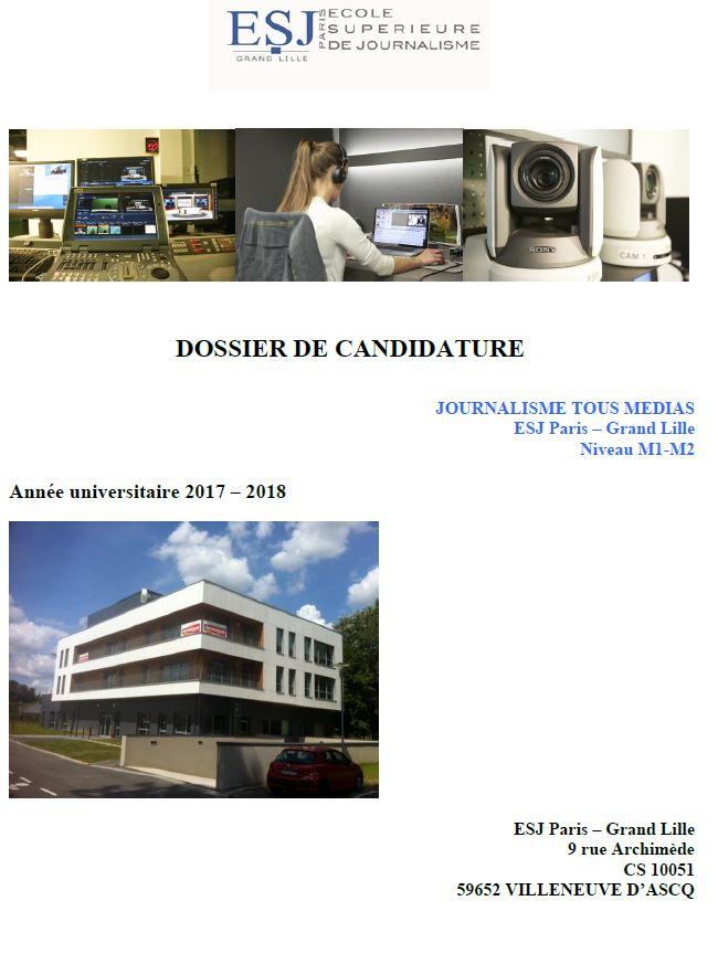 Dossier de candidature 2017-2018