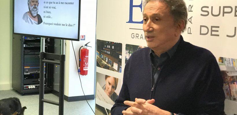 Michel Drucker, de retour sur les bancs de l'école… A l'ESJ Paris Grand Lille