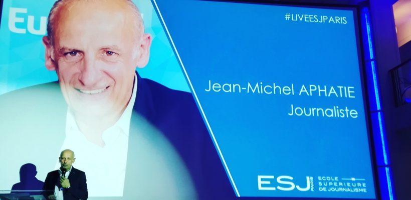 Jean-Michel Apathie et Ophélie Meunier parrains de notre 3ème remise de diplômes